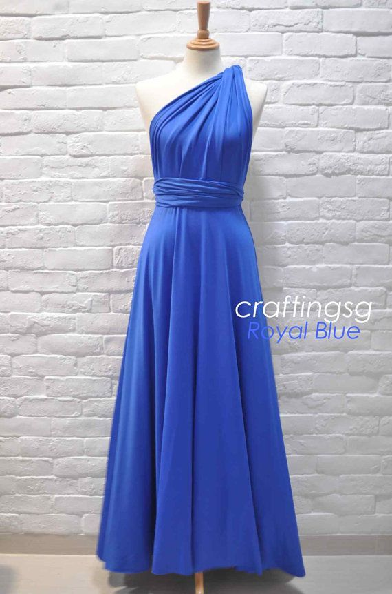 65180dc0266 Bridesmaid Dress Infinity Dress Royal Blue Floor by craftingsg