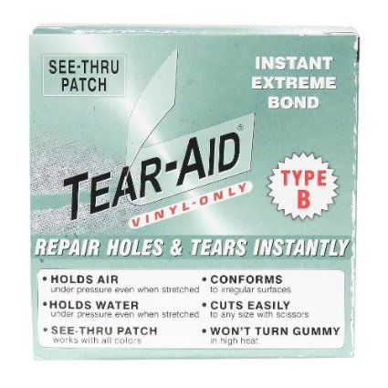 Amazon.com: Tear-Aid Repairs Patch Roll Kit for Type B Fabrics: Sports & Outdoors