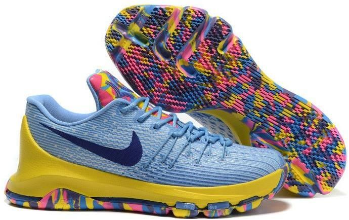 new product a36e4 06f59 Nike KD 8 VIII Yellow Blue Black Pink