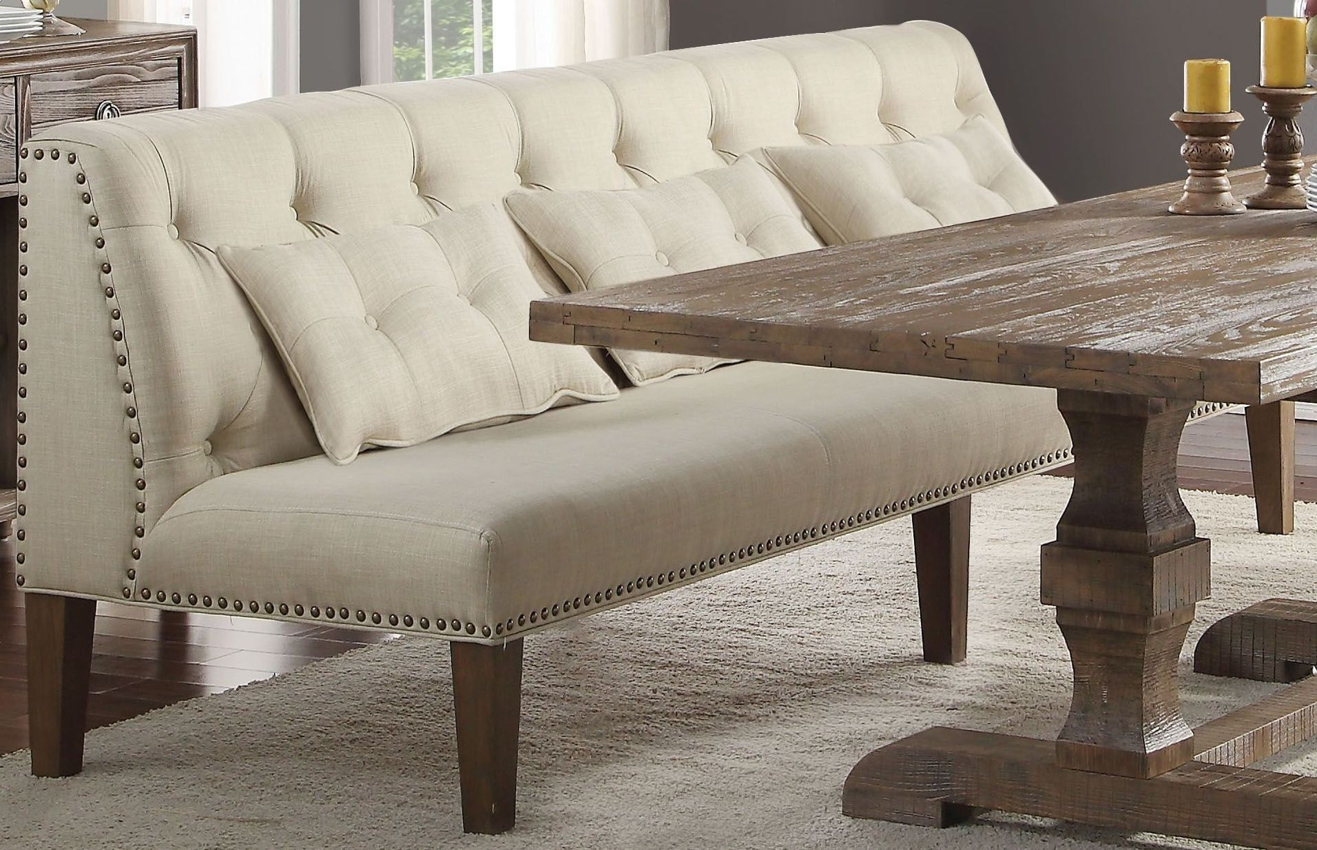 Inverness Parker And Salvage Oak Banquette Bench