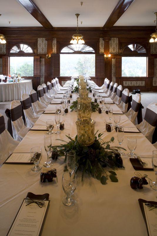 Indoor Weddingreception Venue Location Library Room In The Lodge