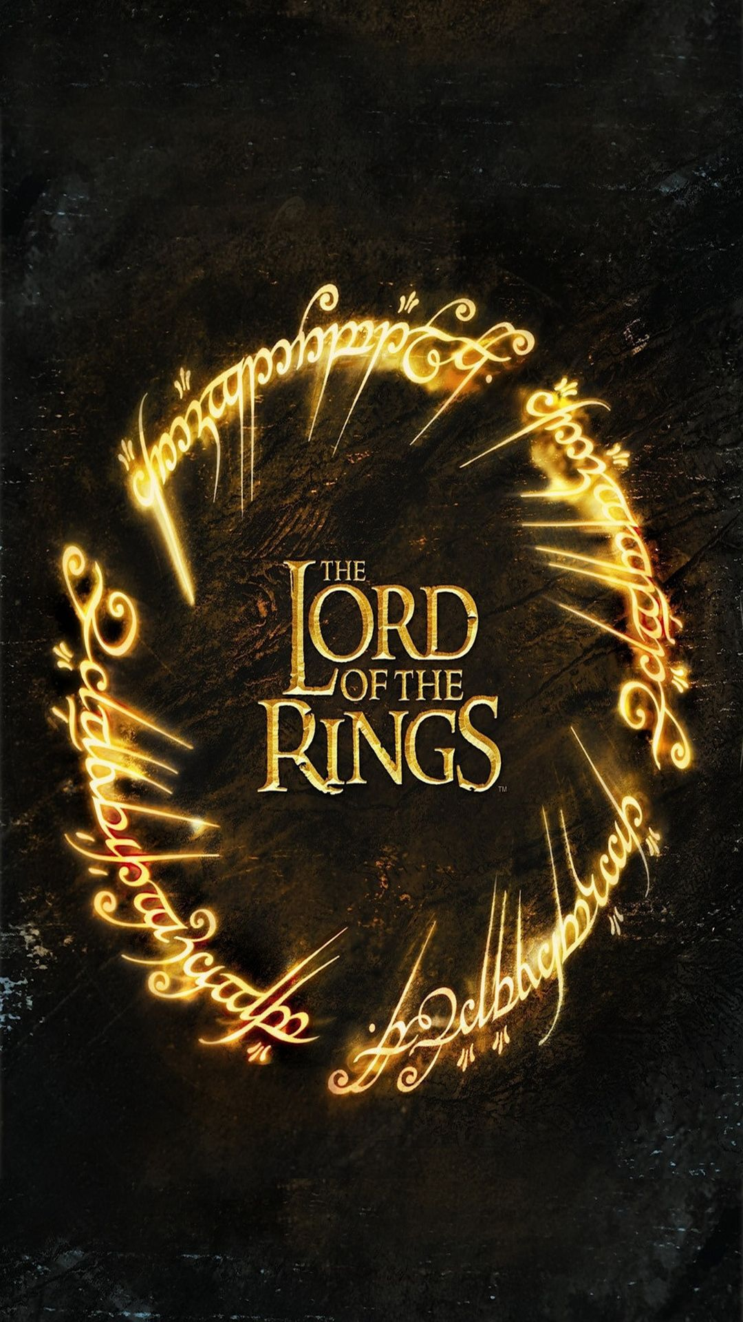 TAP AND GET THE FREE APP  Movies The Lord of the Rings Black                 TAP AND GET THE FREE APP  Movies The Lord of the Rings Black Gold Dark  Fantasy Poster Blockbuster Tolkien HD iPhone 6 plus Wallpaper