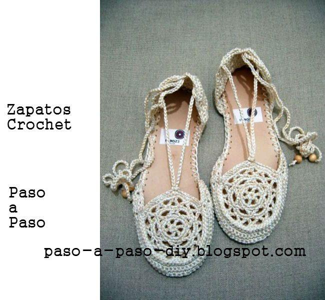 Aprende a tejer zapatillas crochet paso a paso | zapatillas ...