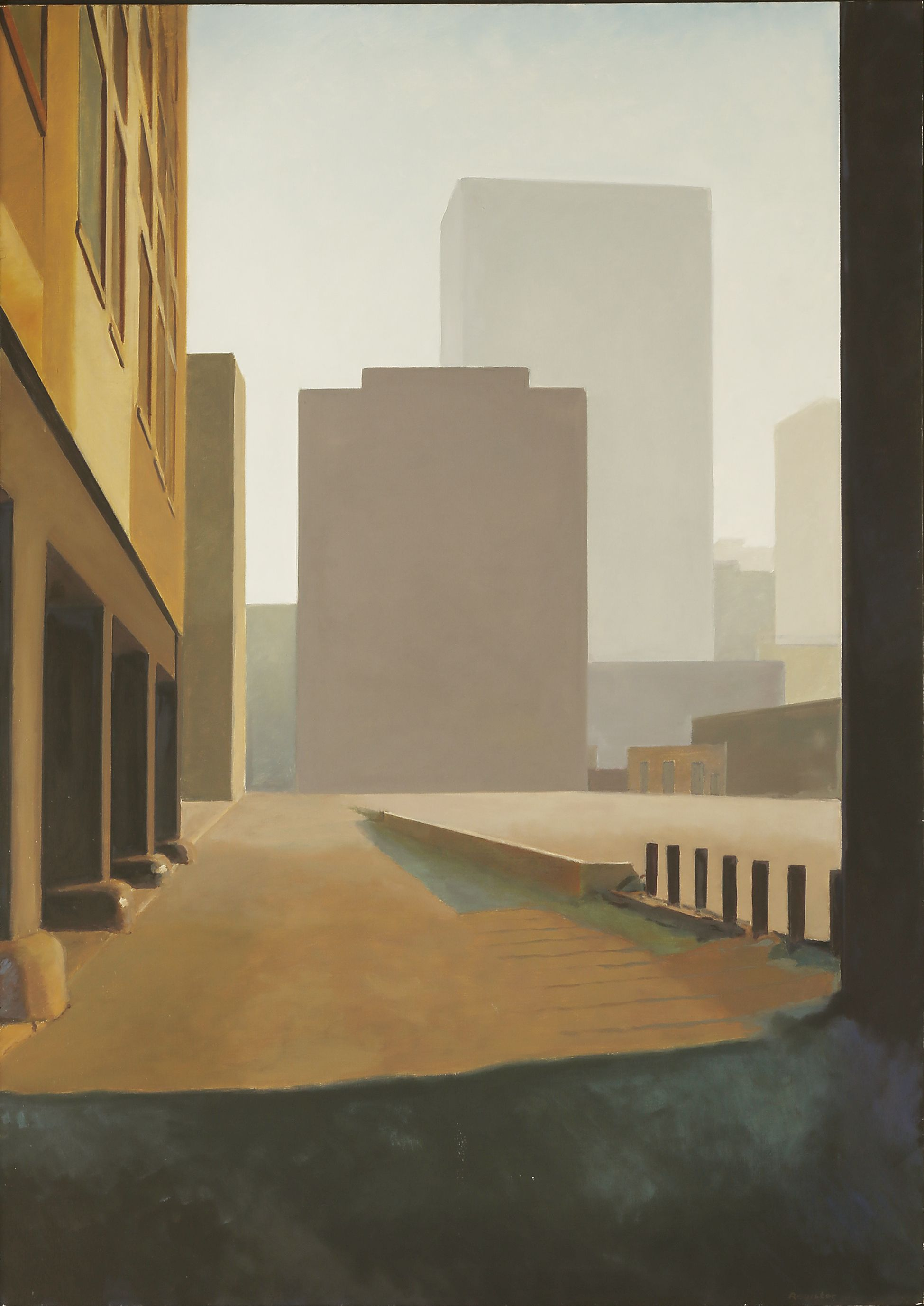 Inner City, 1994 by John Register, Oil on Canvas 50 X 35 inches