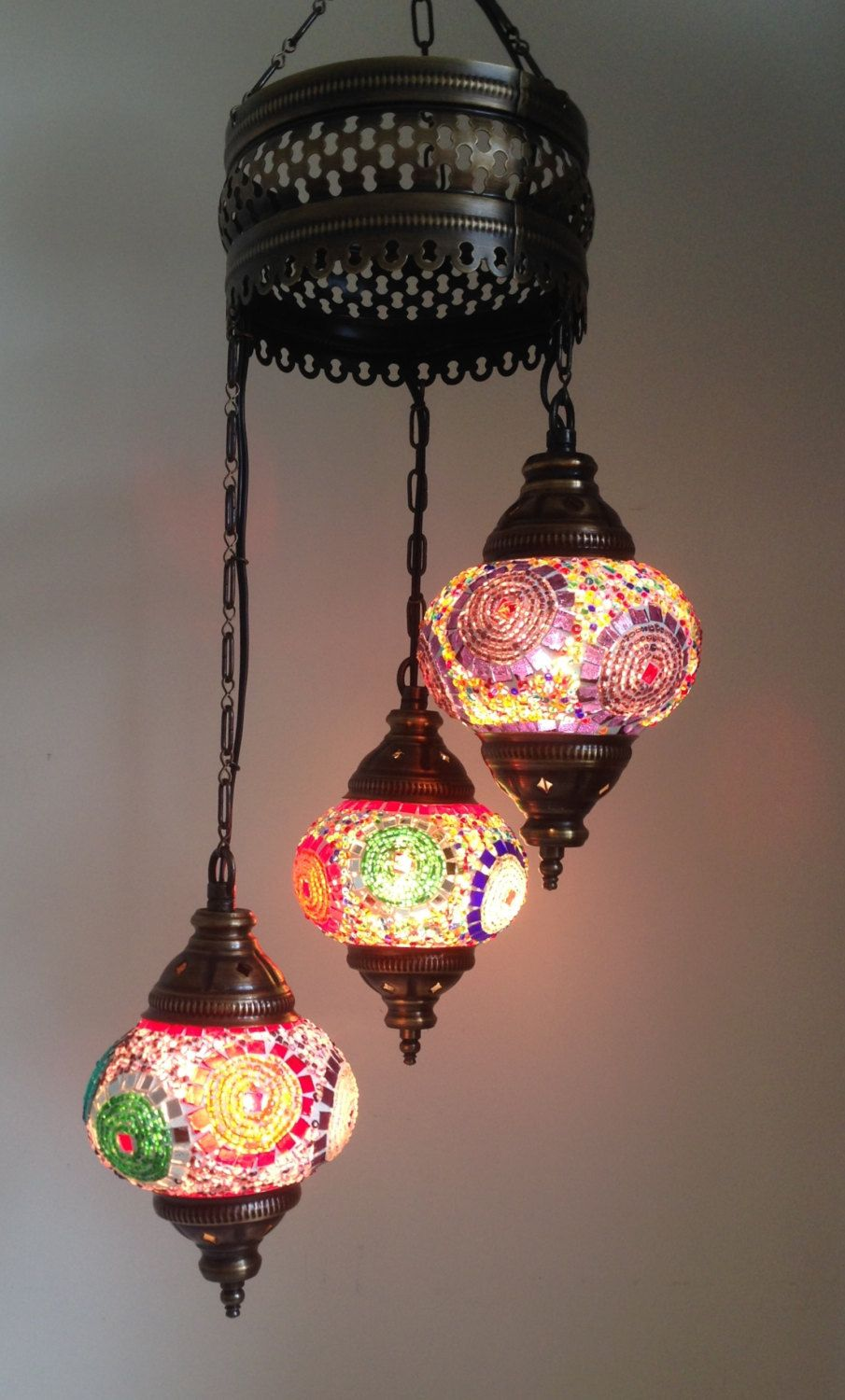 Colorful lamp with 3 hand made mosaic bulbs turkish lamp lantern colorful lamp with 3 hand made mosaic bulbs turkish lamp lantern lamp romantic aloadofball Image collections