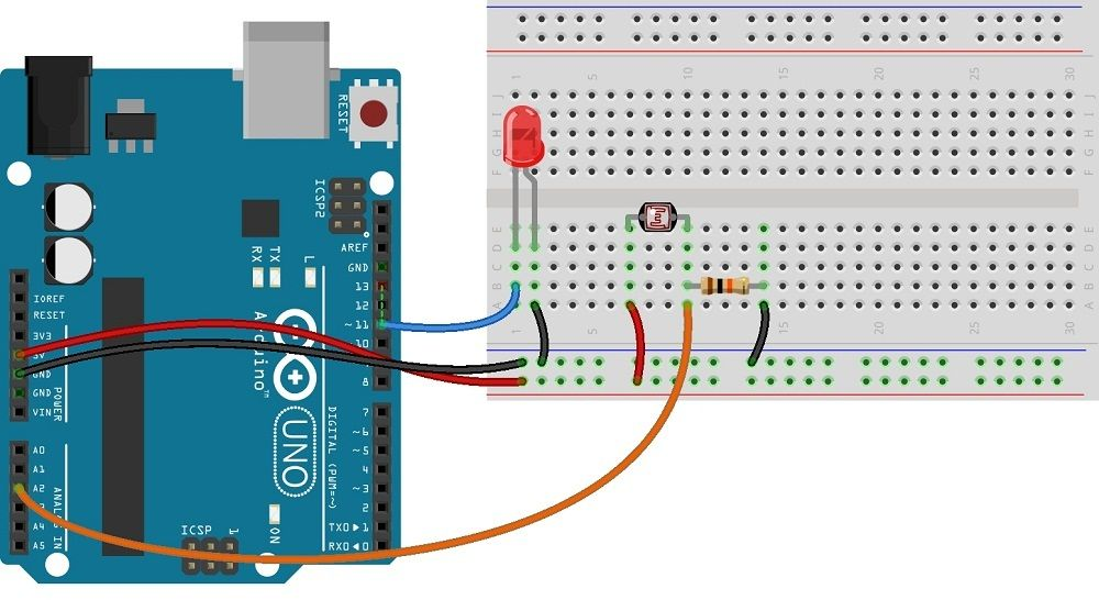Photocell Ldr Sensor With Arduino Ldr Sensor Arduino Sensor