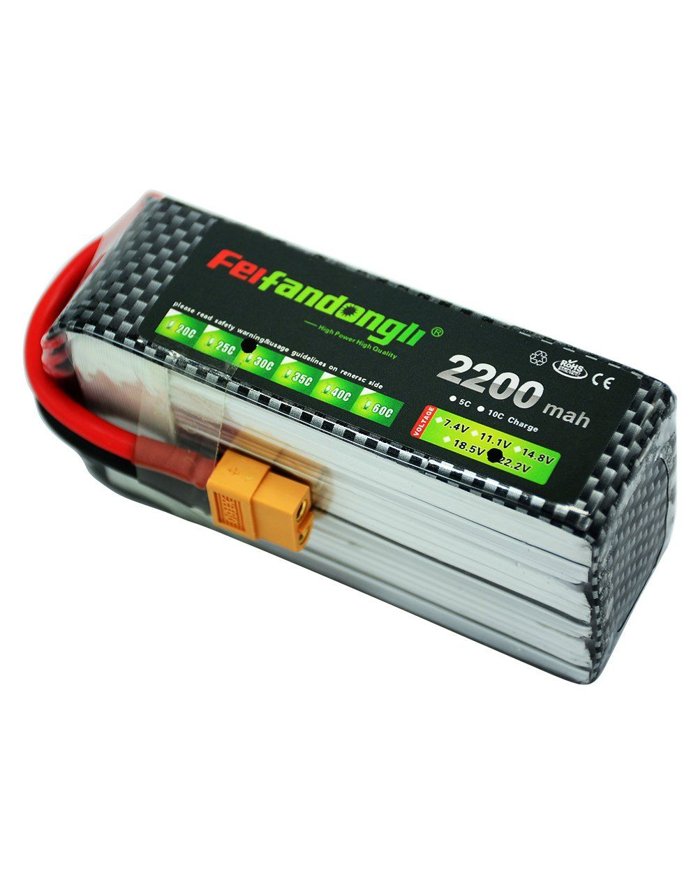 Feifandongli Rc Lipo Battery Pack 222v 6s 2200mah 30c With T Plug Lippo 3s 111v Tplug Connector For Dji F550 Airplane Helicopter Car Truck Boat Remote Control