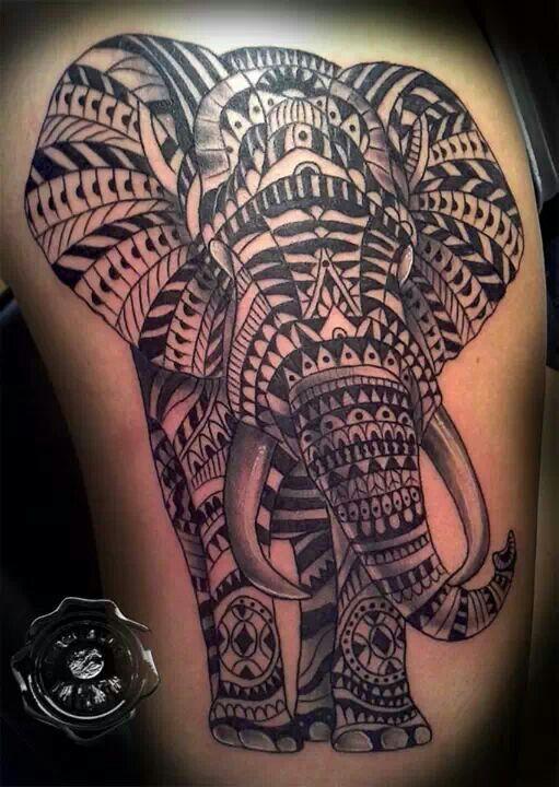Elephant Tattoo. DonPrestonTattoos
