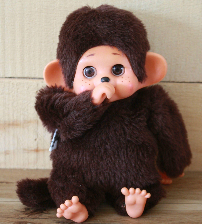 xmas presents singe monchhichi singe kiki singe qui suce son pouce monchhichi avec yeux de