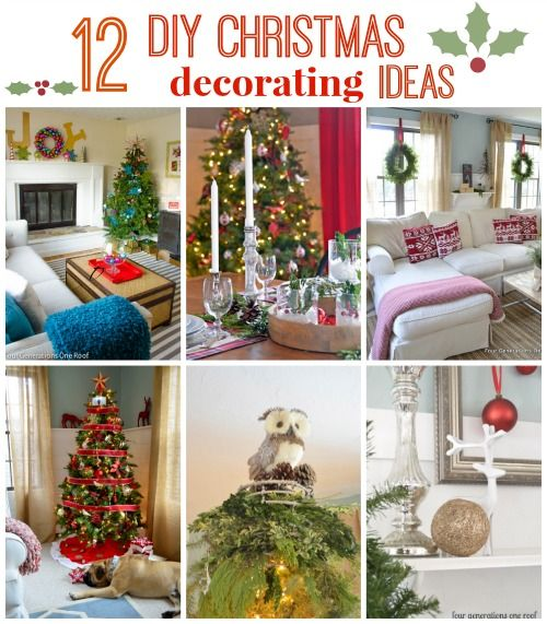 Beau Our TOP 12 DIY Christmas Decorating Ideas   Four Generations One Roof    (last Picture, Idea.