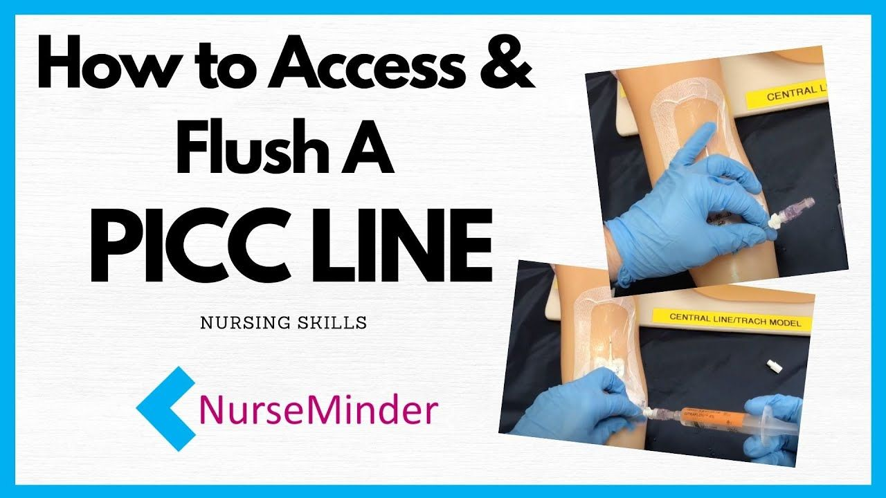 How To Flush a PICC line (peripherally inserted central