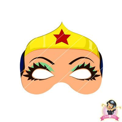 Buy Childrens Diy Printable Wonder Woman Mask At Simply Party