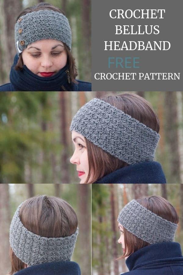 Crochet Bellus Headband - FREE Crochet Pattern #crochetedheadbands