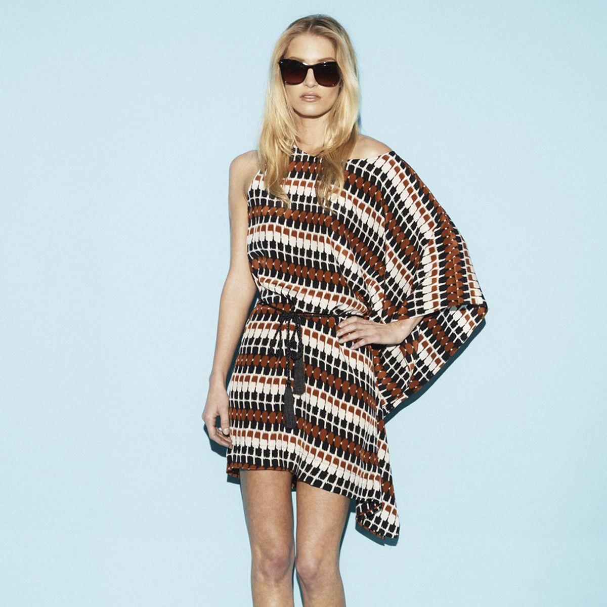 Fab.com | Dominica One Shoulder Dress Rust  $85.00