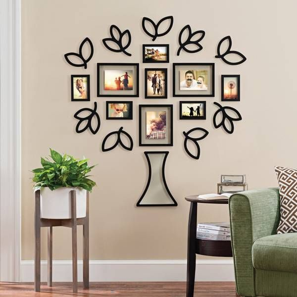 Wallverbs Open Leaf Tree 19 Piece Picture Frame Set At Bed Bath And Beyond Frame Wall Decor Frames On Wall Family Tree Wall Decor