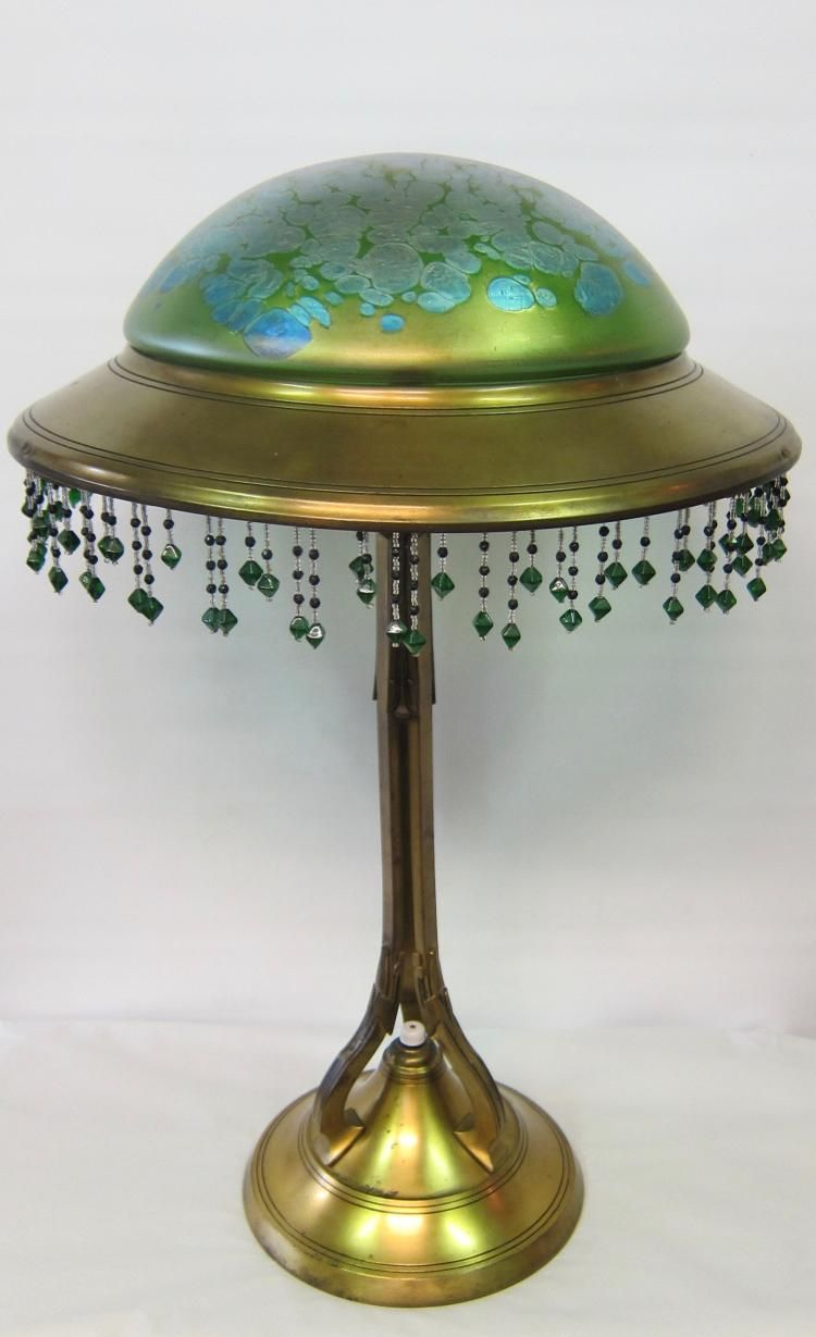 This early 20th century Austrian art nouveau table lamp is ...