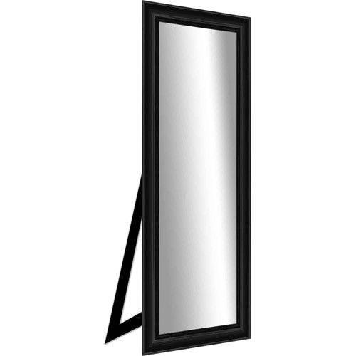 Standing Mirror Black Full Length Floor Dressing Grooming Bedroom