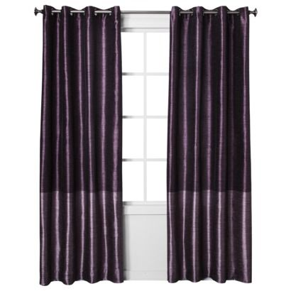 Threshold Banded Faux Silk Window Panel These Are The