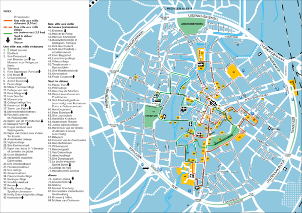 Leuven Tourist Map MAPS Show Us How To Get There Pinterest