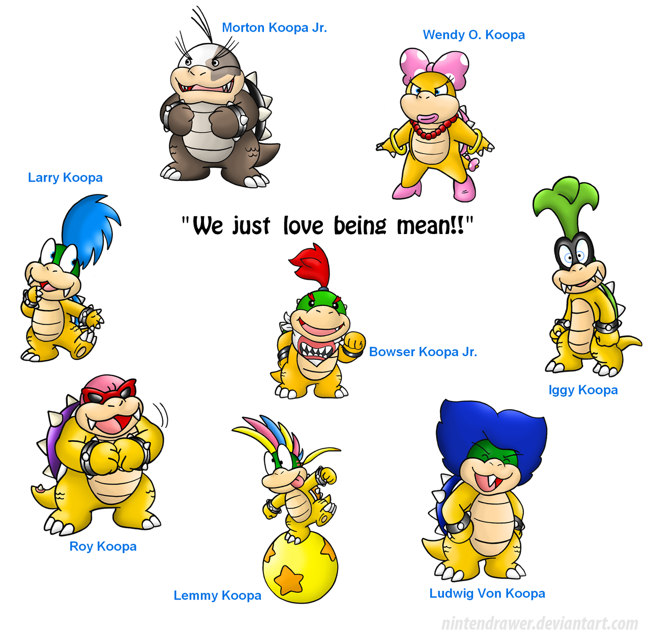 bowser and kids | Super Mario Bros | Pinterest