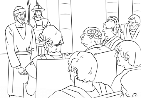Paul's Trials Before Felix Festus and Agrippa Coloring