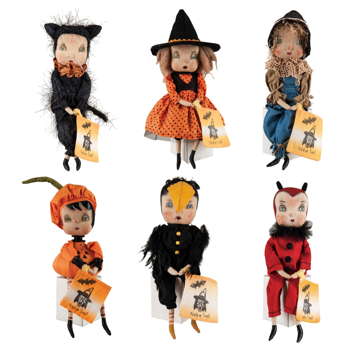 Trick or Treaters Halloween doll, Halloween costumes