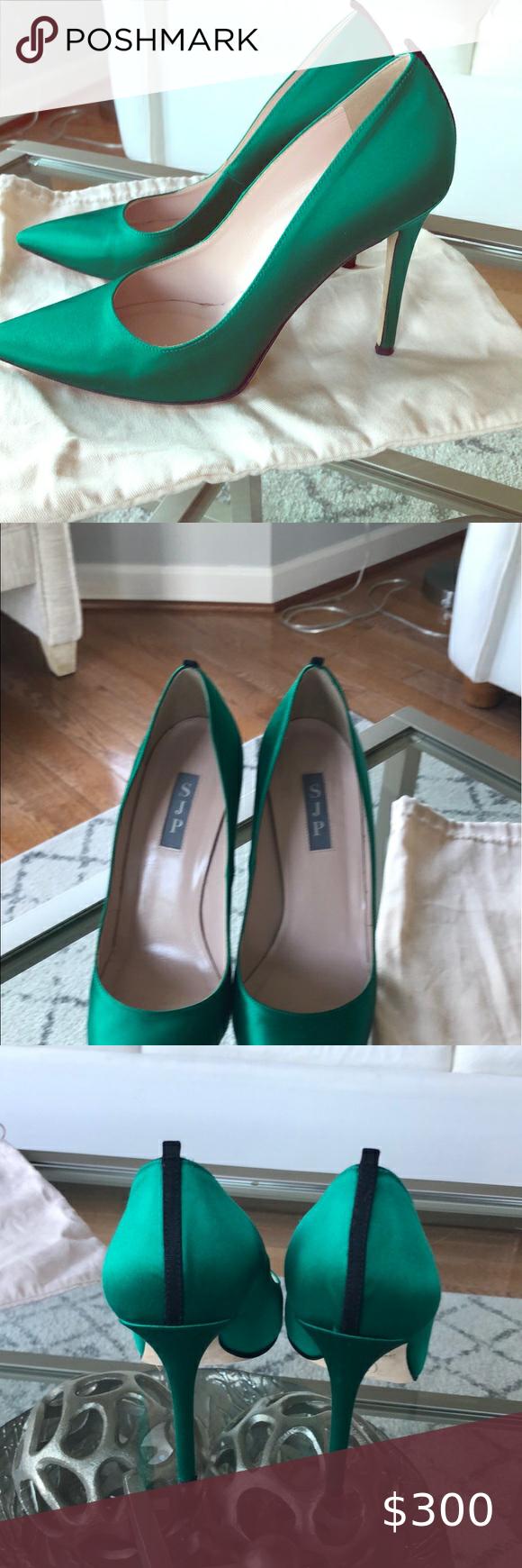 Sarah Jessica Parker Fawn 100 mm heels in Emerald SJP's