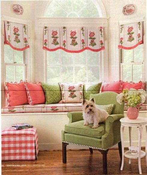 Cottage Style Window Treatments Cottage Style Window: Polly's Pink & Green Cottage (With Images)