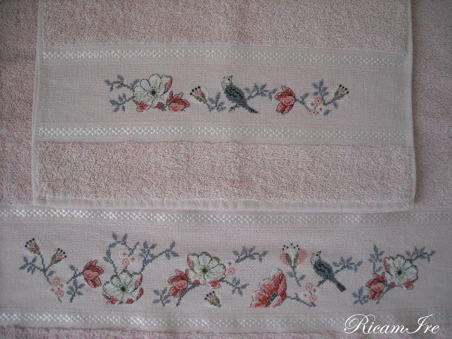 Asciugamani A Punto Croce Schema Rico Design