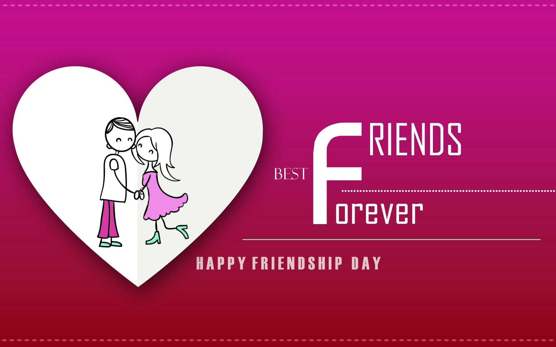 Forever Friendship Day Poem Heart Design Happy Friendship Day