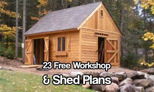 23 Free Workshop and Shed Plans. This is the mother load of free workshop and shed plans. Spring is pretty much here, get do it your selfing now :)
