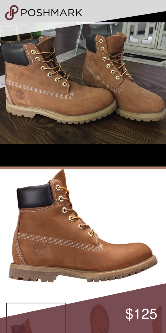 official photos 928ab a5d9d Women s Timberlands Women s Timberlands Premium Waterproof Boot. Never  worn! Size 9. Color is Rust Nubuck Timberland Shoes Ankle Boots   Booties