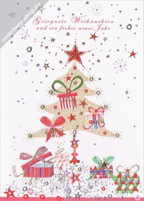 Weihnachtsbaum mit Geschenken - Gesegnete Weihnachten und ein frohes ...