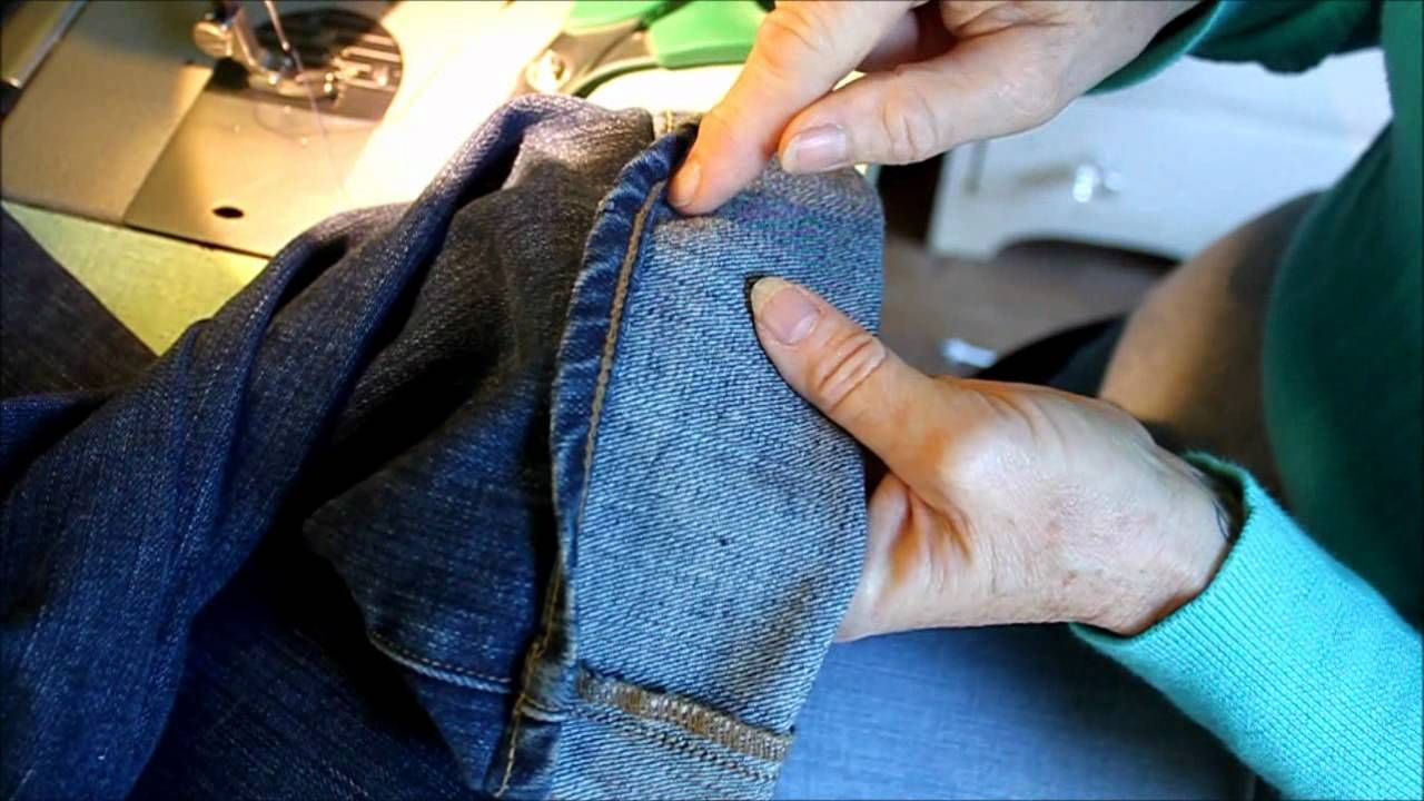 Hemming Jeans the Euro/Tricky Style AMAZING AND EASY WAY
