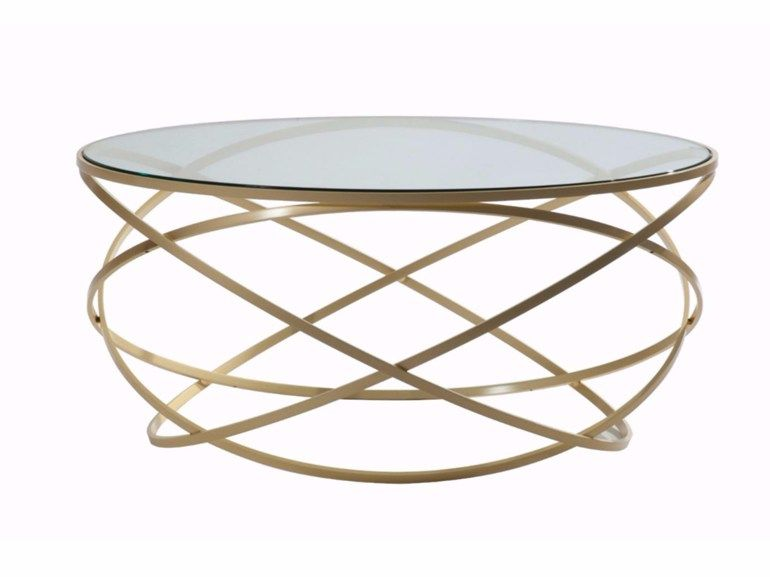 Round Glass And Steel Coffee Table Evol By Roche Bobois Design Cedric Ragot Steel Coffee Table Coffee Table Table