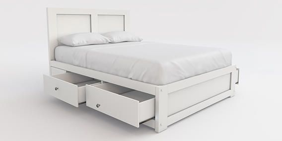 Buy Sussex Double bed with 2 storage drawers Wood White from the Next UK  online shop