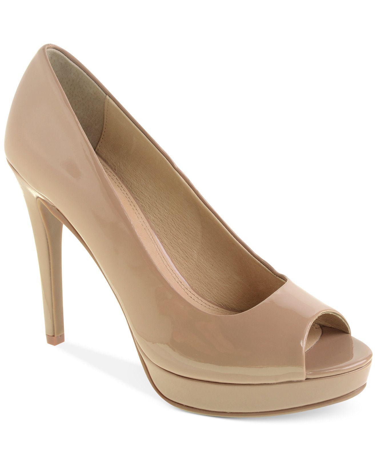 Platform pumps heels