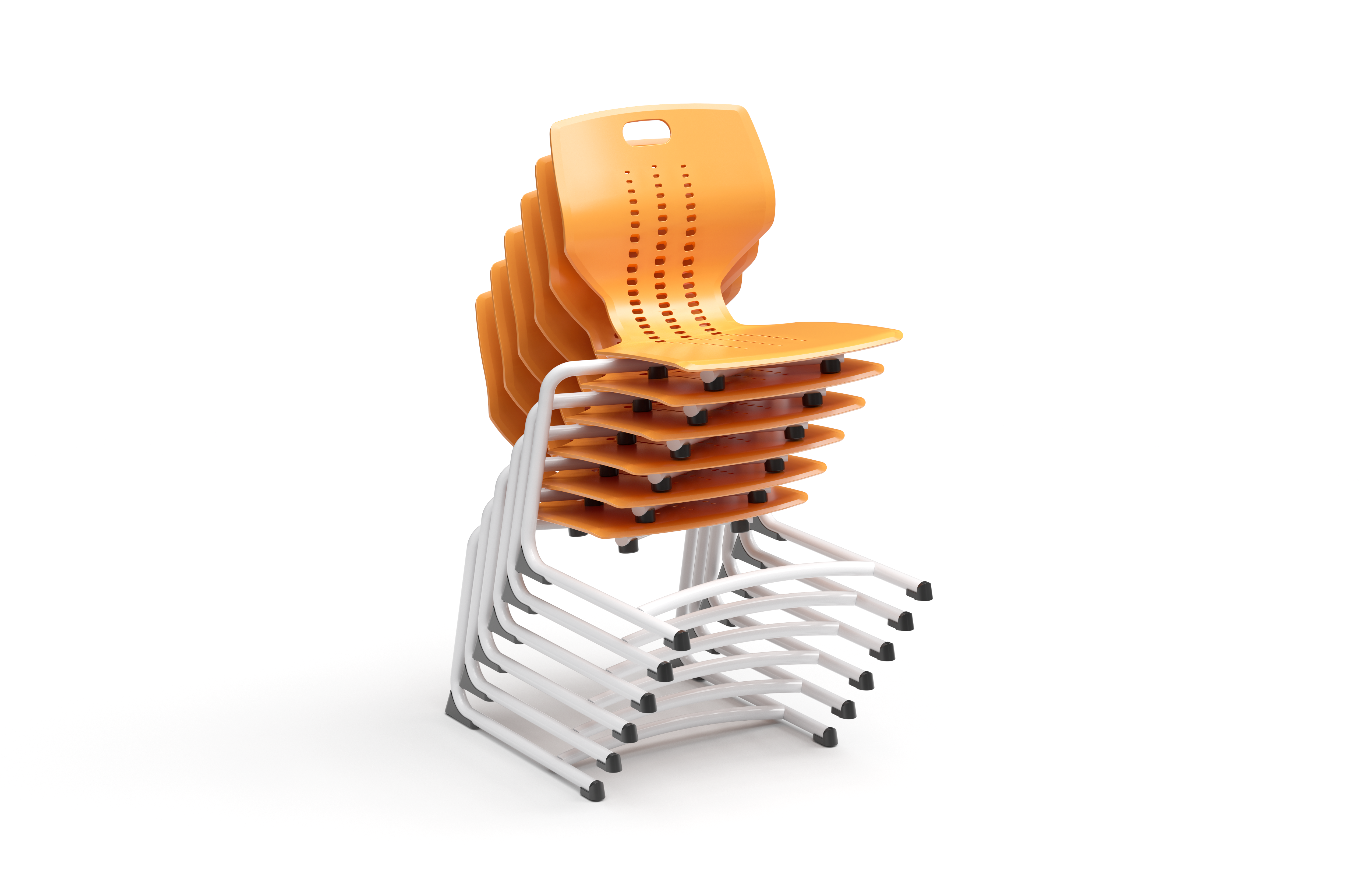 Paragon Emoji Cantilever Chair Stacked School Furniture Cantilever Chair 21st Century Learning Spaces