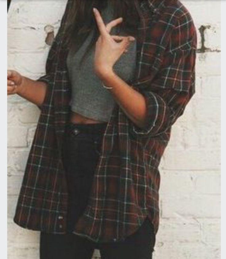 Flannels Grunge Teen Fashion