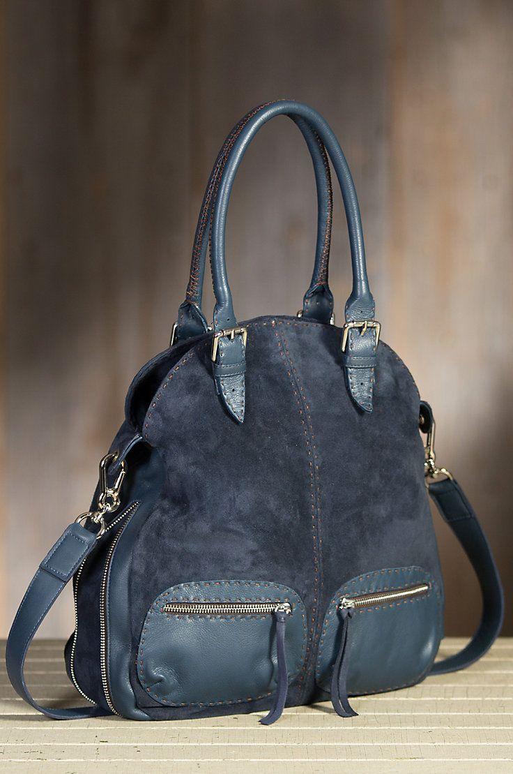 Overland Nicole Suede Crossbody Handbag Suedehandbags