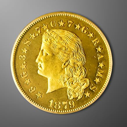 Originally Created To Facilitate International Trade The Coveted Gold Stella 1879 1880 Was Spotted Adorning The Coin Art Gold And Silver Coins Silver Coins