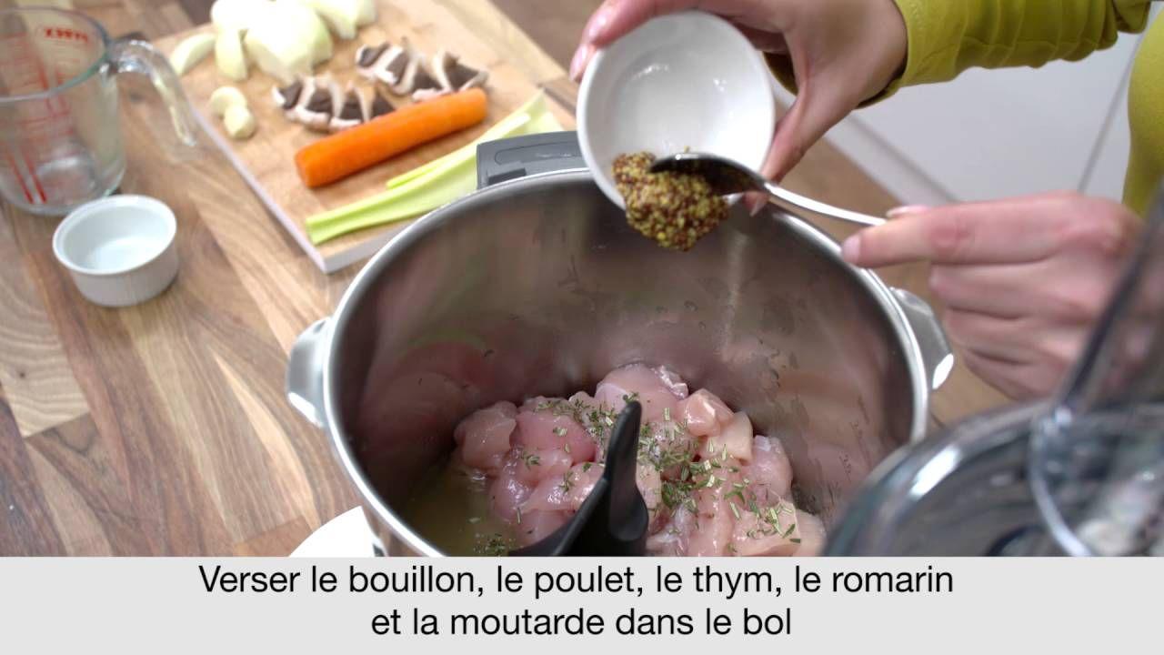 Recette de la Tourte au Poulet avec le robot cuiseur kCook Multi de Kenw.