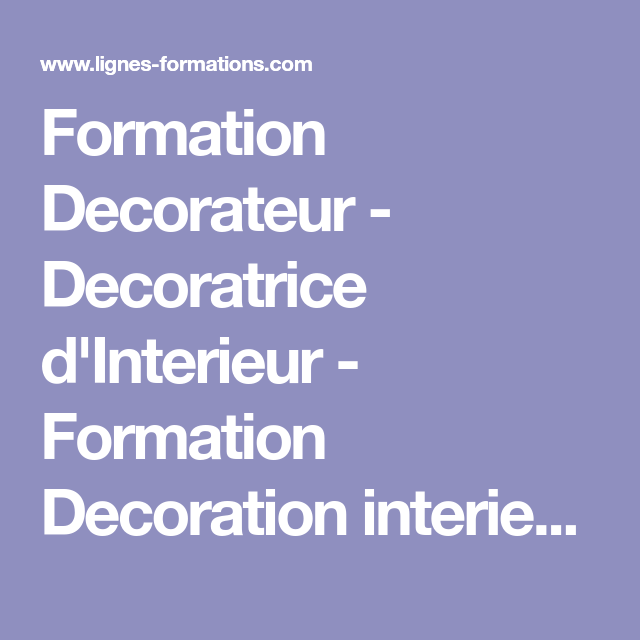 formation decorateur decoratrice dinterieur formation decoration interieure distance