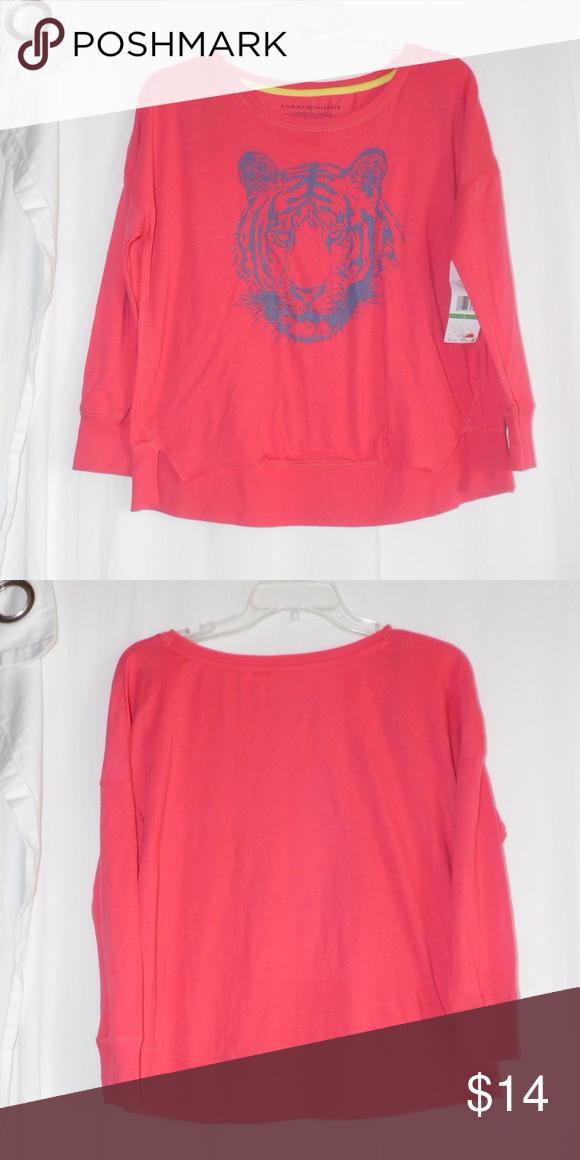 aa403c64 Tommy Hilfiger Tiger Hi Low Shirt Girls Large Brand new with tags Tommy  Hilfiger Tiger Hi Low Shirt Size Large Girls Youth Tommy Hilfiger Shirts &  Tops Tees ...
