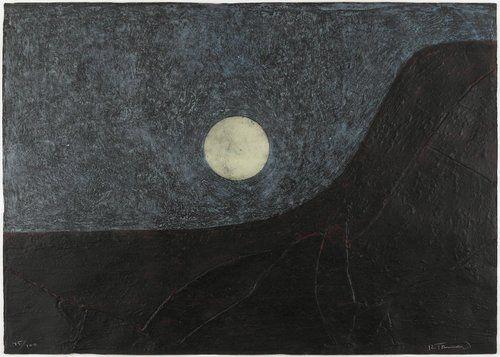 Landscape with Moon, Rufino Tamayo. (1899 - 1991)
