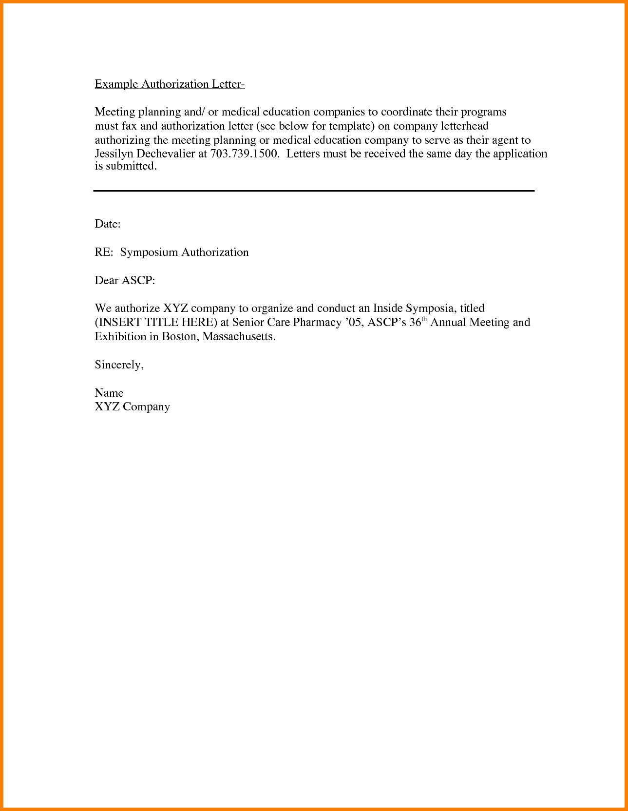 Photos Authorization Request Letter Example Certification Work