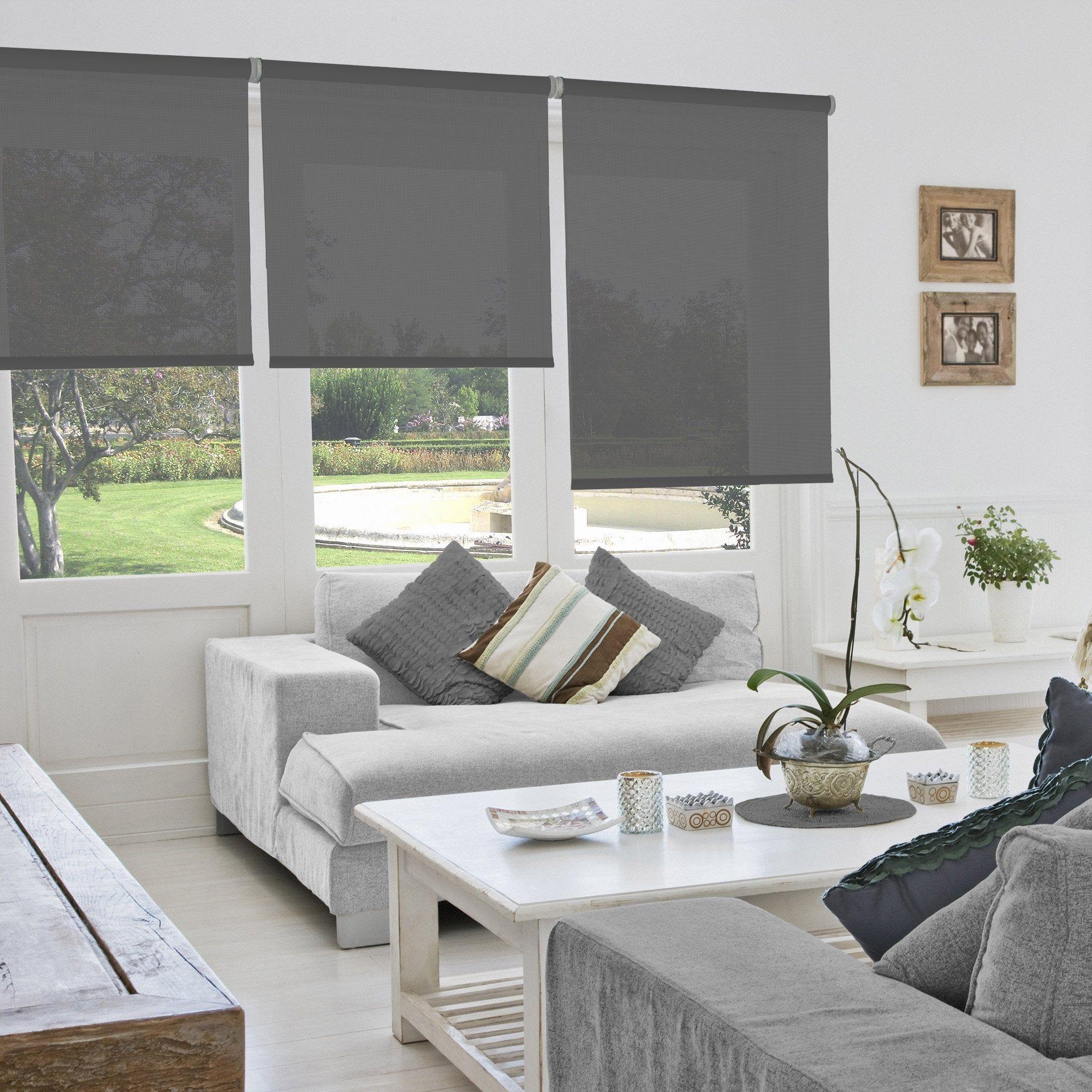 Store Enrouleur Tamisant Gris Screen L 135 X H 250 Cm En 2020 Store Enrouleur Stores D Interieur Et Amenagement Salon