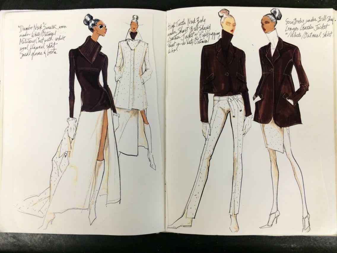 Sketches from my ANNE KLEIN sketchbook 1994 Renaldo Barnette