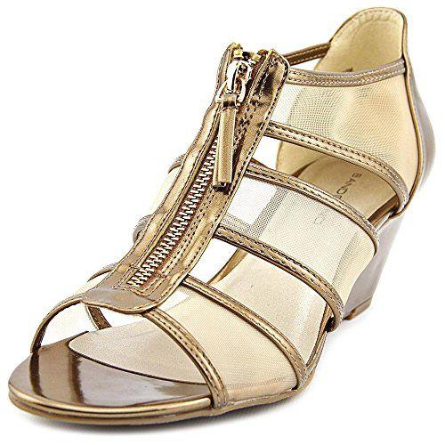 3e39aa14965 Bandolino Womens Opie Wedge Sandal Dark Gold 75 M US    Visit the image  link more details.