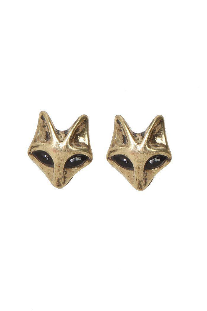 LOVESICK GOLD FOX STUD EARRINGS
